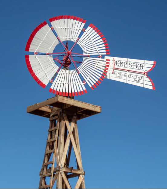 Figure 1: Red and White Windmill, courtesy of Jim Reardan at unsplash.com.